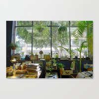 Records and Plants Canvas Print