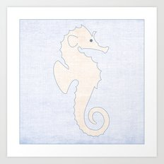 Seahorse - Under the Sea Series Nursey Print Art Print