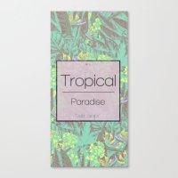 Tropical Paradise: Jade Jungle Canvas Print