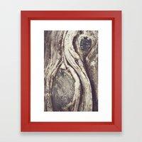 Tree Swirls Framed Art Print