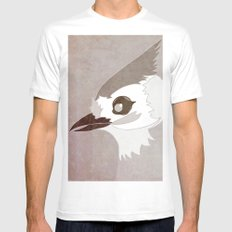 Tufted Titmouse White SMALL Mens Fitted Tee