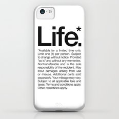 Life.* Available for a limited time only. (White) iPhone 5c Slim Case
