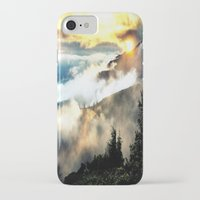 mountains iPhone & iPod Cases featuring Sunrise mountains by 2sweet4words Designs