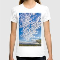 Morning Sky Womens Fitted Tee White SMALL