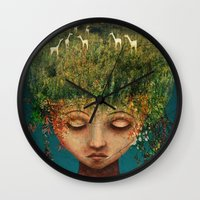Quietly Wild Wall Clock