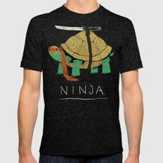 ninja Mens Fitted Tee Tri-Black SMALL