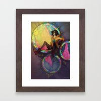 Hiding High Framed Art Print