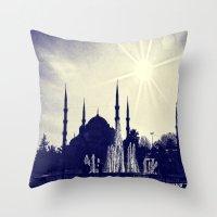 Blue Istanbul Throw Pillow