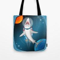 Shark In Space Tote Bag