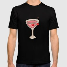 Alcohol_03 SMALL Black Mens Fitted Tee