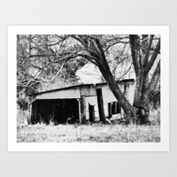 ruined shed Art Print