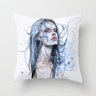 Throw Pillow featuring Obstinate Impasse by Agnes-cecile