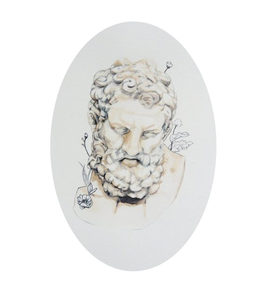 Statue of Spring II Art Print