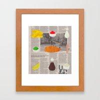 Fish & Chips Framed Art Print