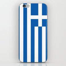 Flag Of Greece - Authent… iPhone & iPod Skin