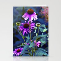 Purple Coneflowers  Stationery Cards