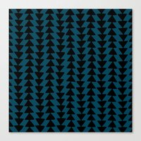 Blue Arrows Canvas Print