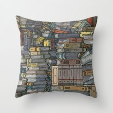 Closed Books Throw Pillow