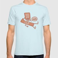 Come To My Aid Mens Fitted Tee Light Blue SMALL