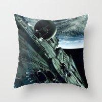Milleniuim Falcon Throw Pillow