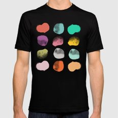 Colored Dots Mens Fitted Tee SMALL Black