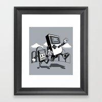 Handheld Mono Framed Art Print