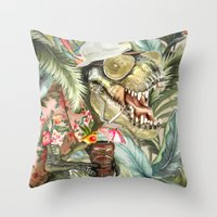 Hunter S. T-Rex Throw Pillow