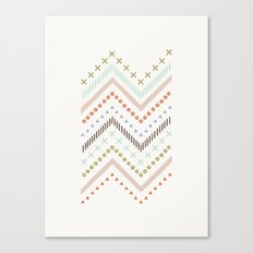 Mixed Zig Zag - in Mint Canvas Print
