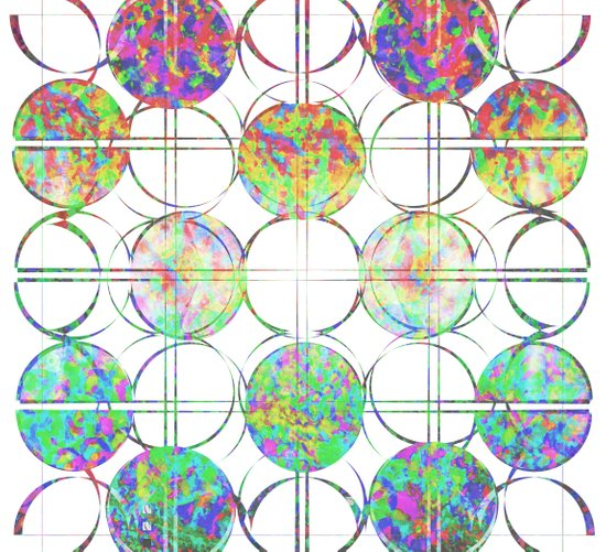 Refraction Tiles Art Print