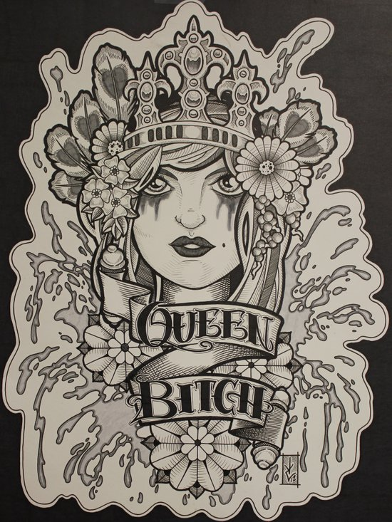 Queen Bitch Art Print
