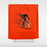 BikeCycling Shower Curtain