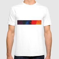 multi-colors White SMALL Mens Fitted Tee