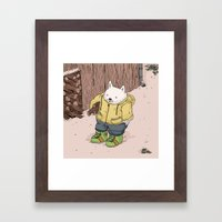 Firewood Framed Art Print