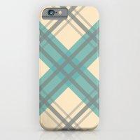 Teal Pastel Plaid iPhone 6 Slim Case