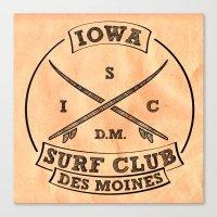 Iowa Surf Club Canvas Print