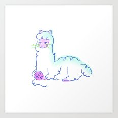 Alpacat Art Print