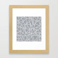 Ab Blocks Grey #2 Framed Art Print