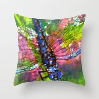 Title: painting - Dragonfly Throw Pillow