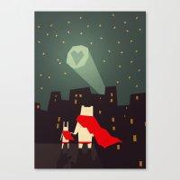 The city needs love Canvas Print