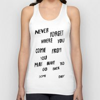 NEVERFORGET Unisex Tank Top