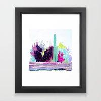 Cacti Watercolour Allsorts Framed Art Print