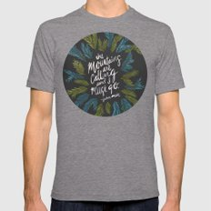 Mountains Calling – Ch… Mens Fitted Tee Tri-Grey SMALL