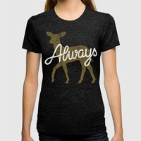 Always Womens Fitted Tee Tri-Black SMALL