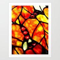 Etched Glass Art Print
