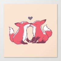 Fox Kisses Canvas Print