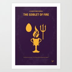 No101-4 My HP - GOBLET OF FIRE minimal movie poster Art Print