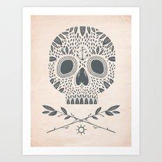 LEAF SKULL Art Print