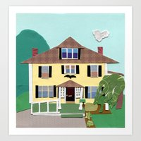 The house on Hillside Ave Art Print