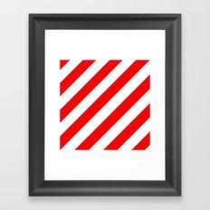 Stripes, Red And White Framed Art Print