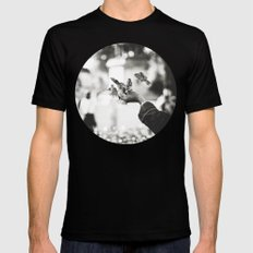 The man of birds Mens Fitted Tee Black SMALL
